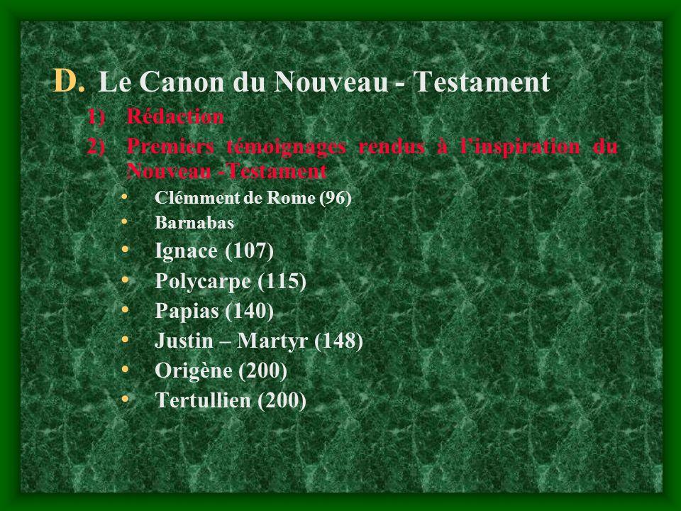 Le Canon du Nouveau - Testament