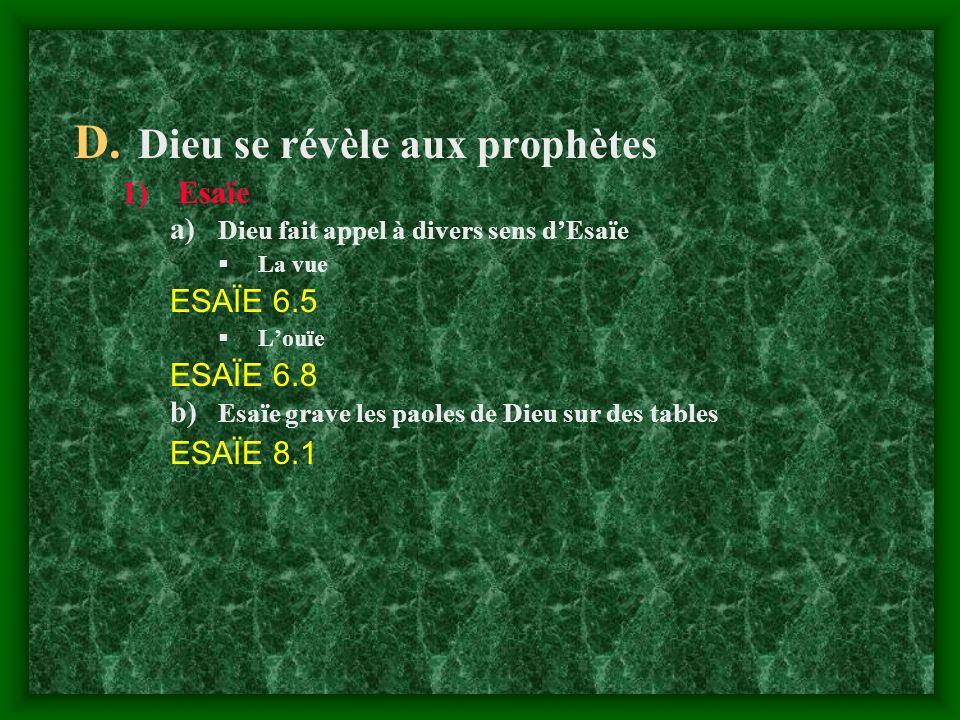 Dieu se révèle aux prophètes