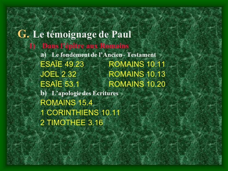 Le témoignage de Paul Dans l'épître aux Romains