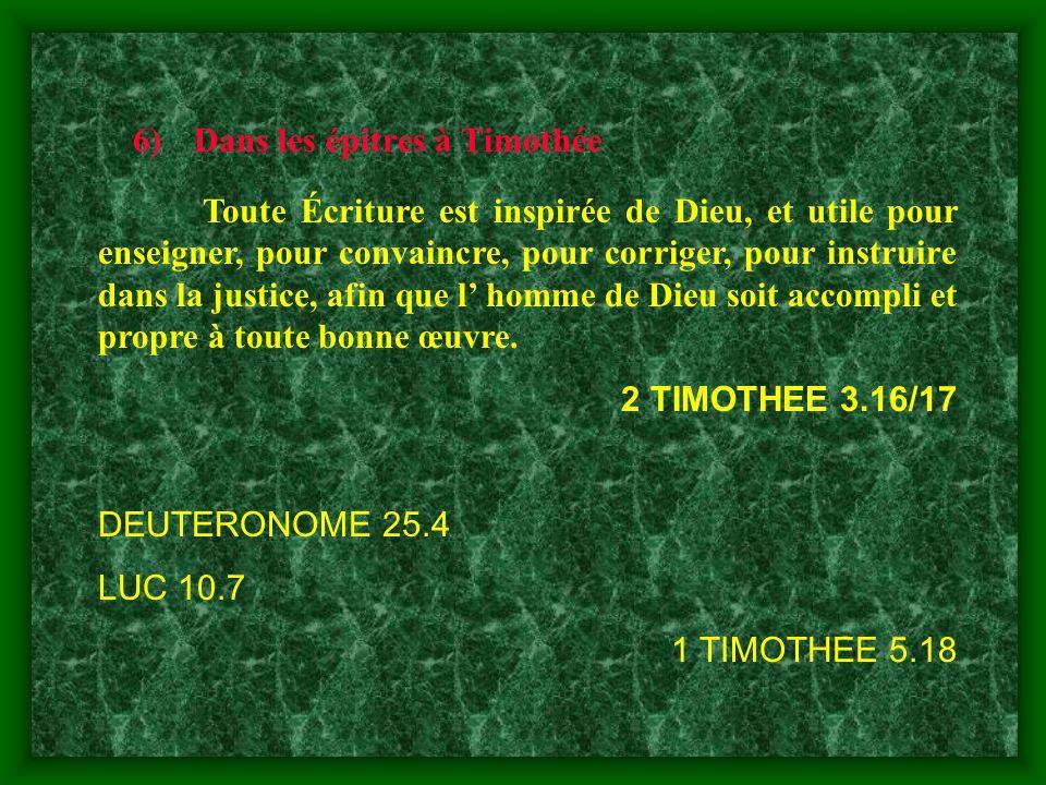 Dans les épitres à Timothée
