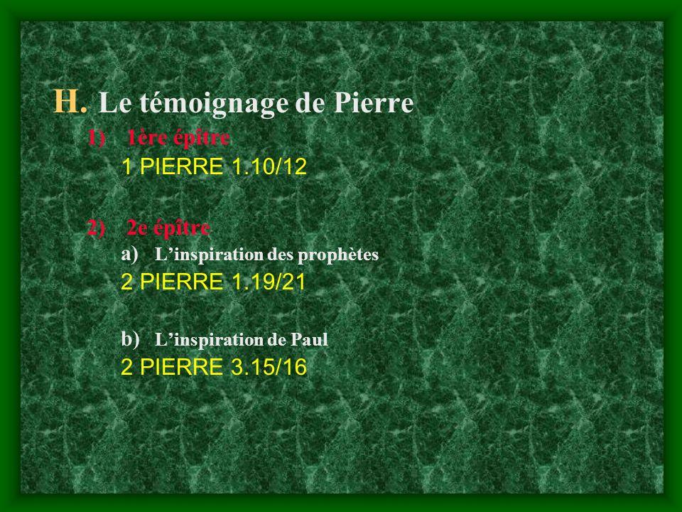 Le témoignage de Pierre