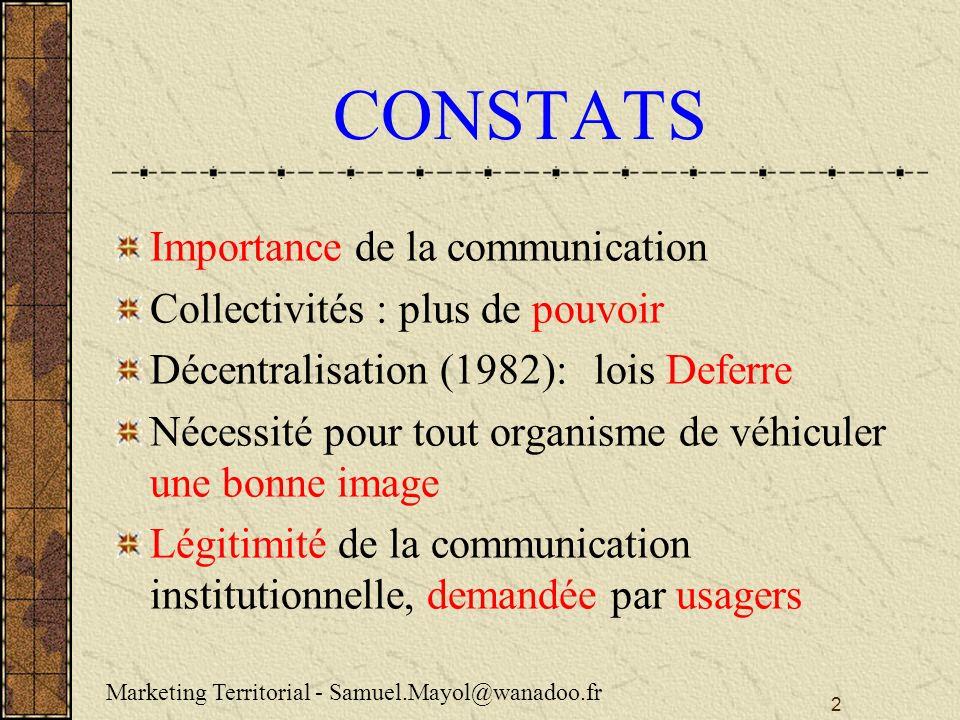 CONSTATS Importance de la communication