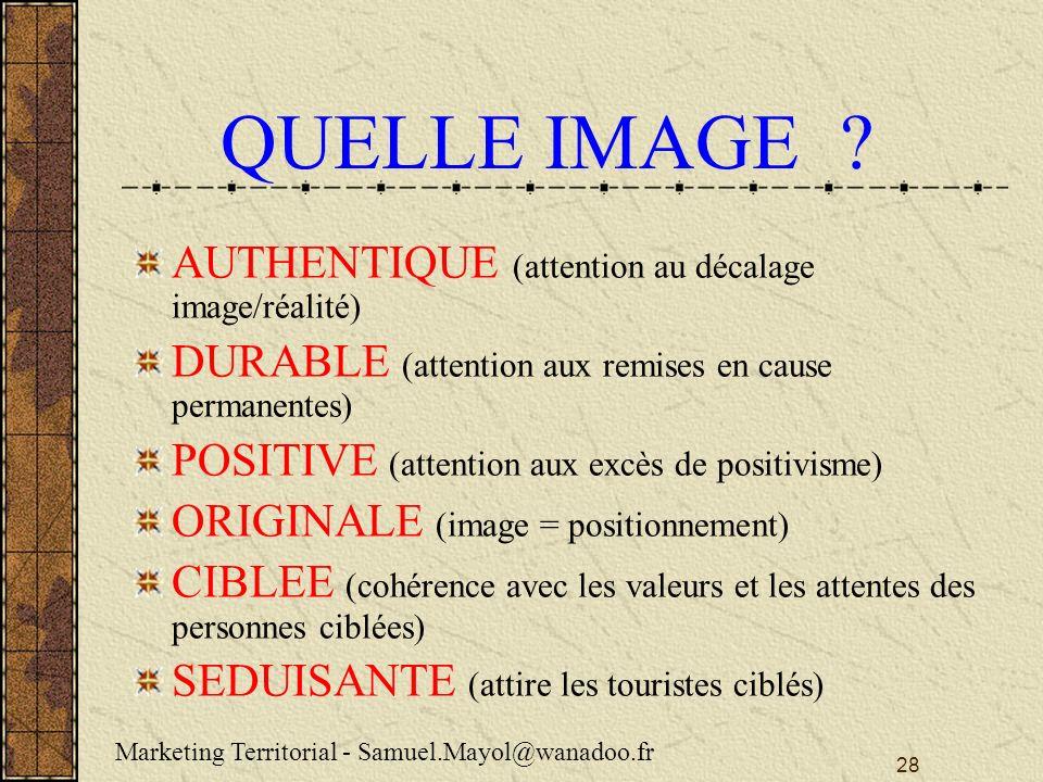 QUELLE IMAGE AUTHENTIQUE (attention au décalage image/réalité)
