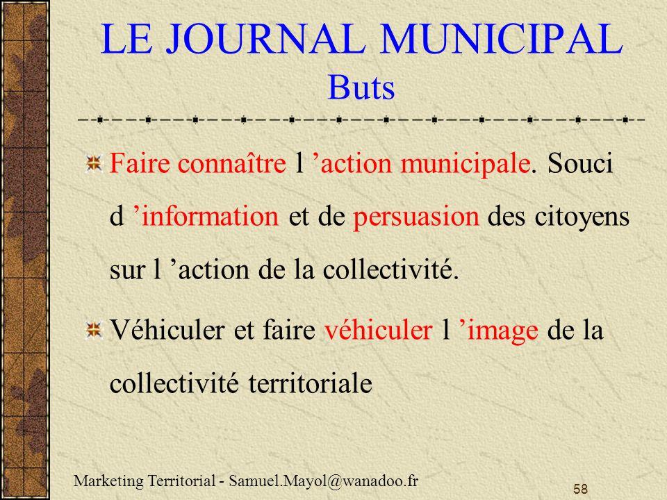 LE JOURNAL MUNICIPAL Buts