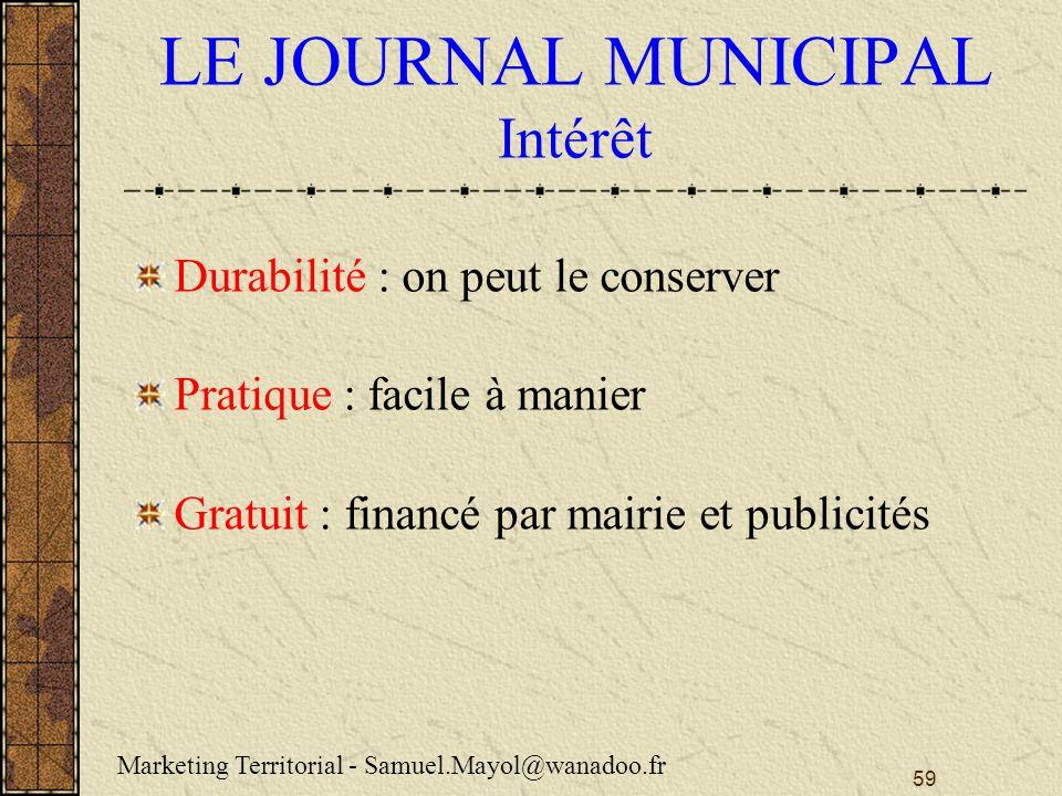 LE JOURNAL MUNICIPAL Intérêt