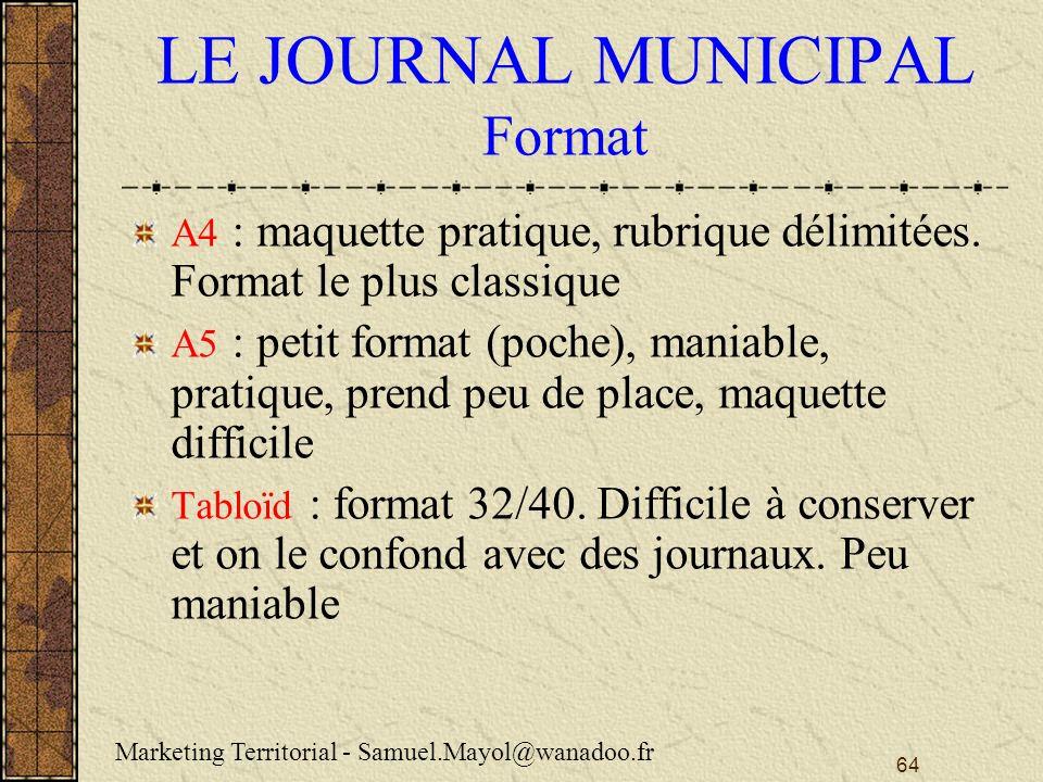 LE JOURNAL MUNICIPAL Format