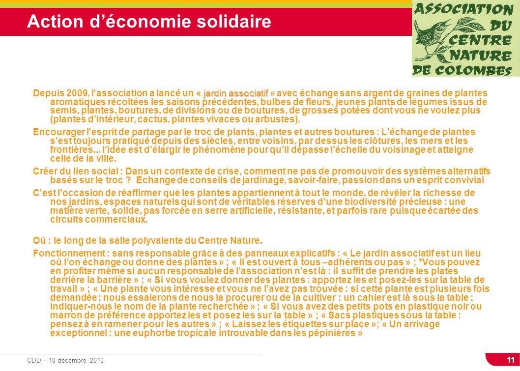 Action d'économie solidaire