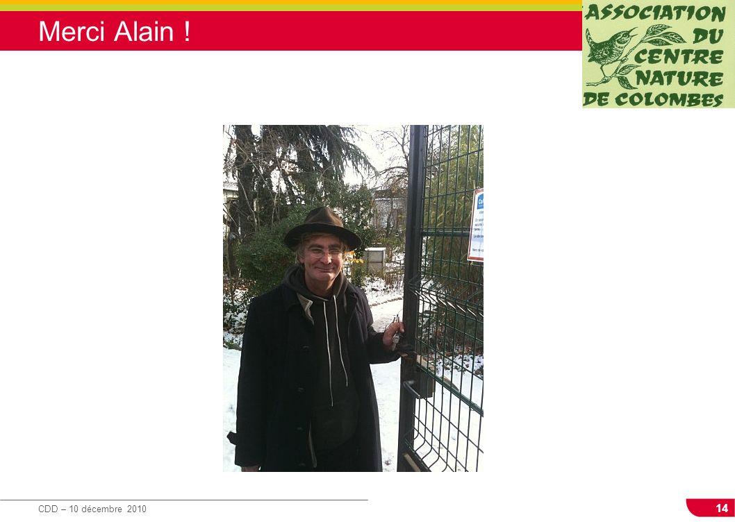 Merci Alain !