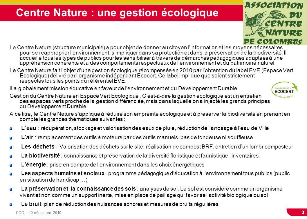 Centre Nature : une gestion écologique