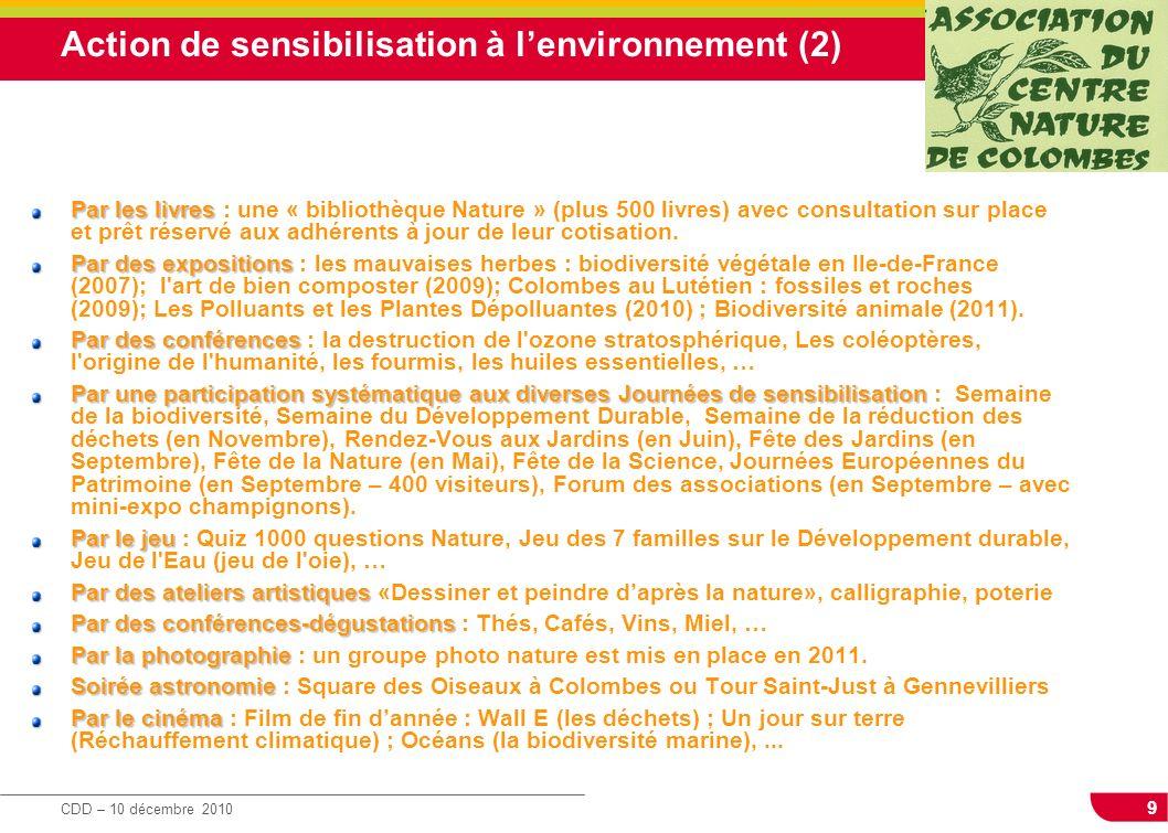 Action de sensibilisation à l'environnement (2)