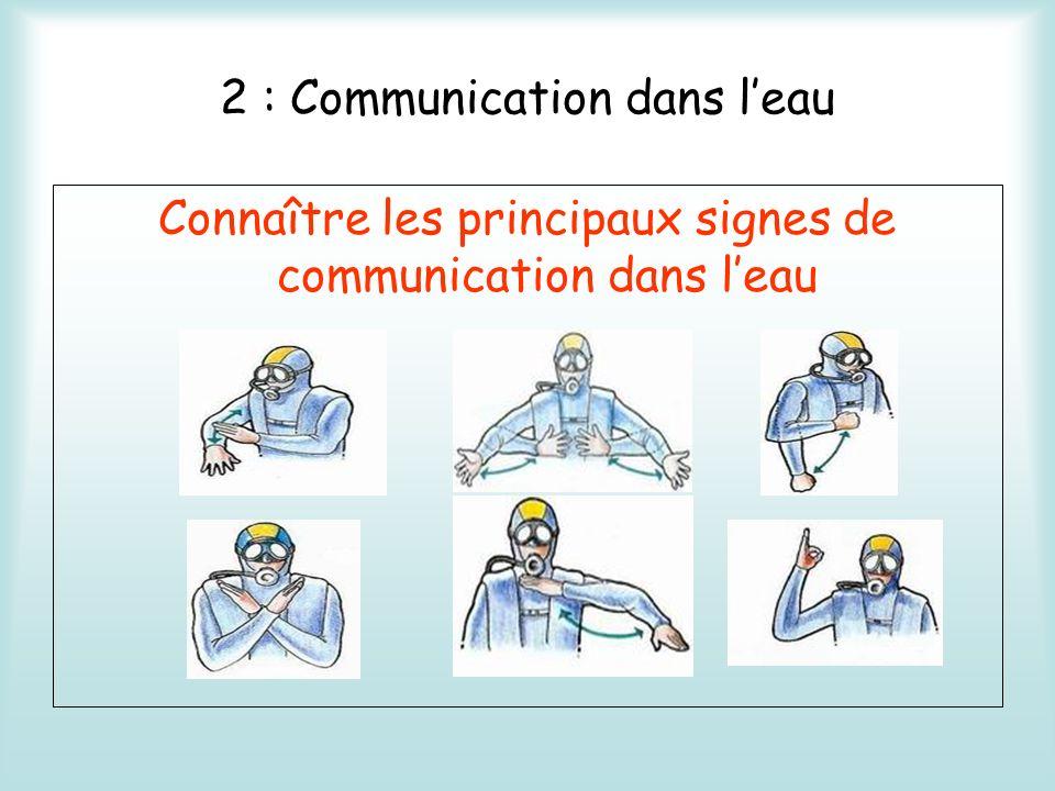 2 : Communication dans l'eau
