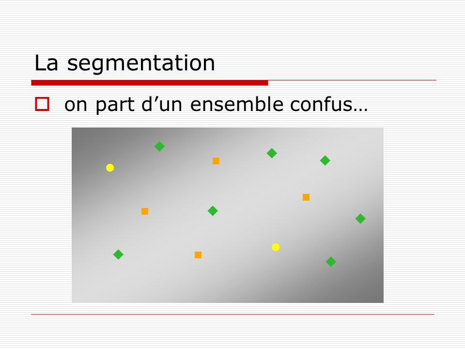 La segmentation on part d'un ensemble confus…