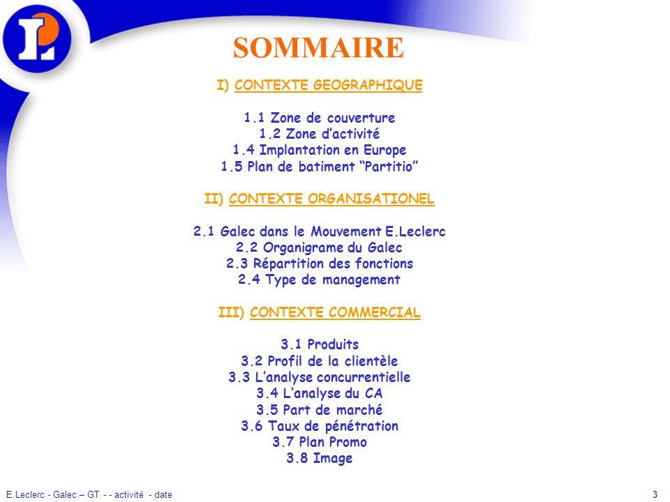SOMMAIRE I) CONTEXTE GEOGRAPHIQUE 1.1 Zone de couverture