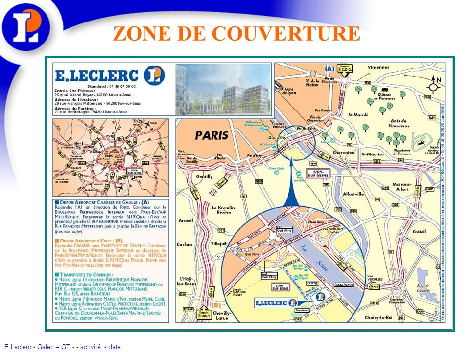 ZONE DE COUVERTURE