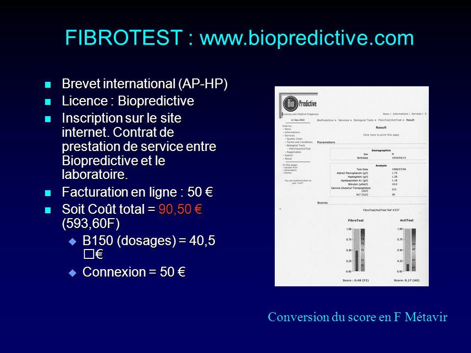 FIBROTEST : www.biopredictive.com