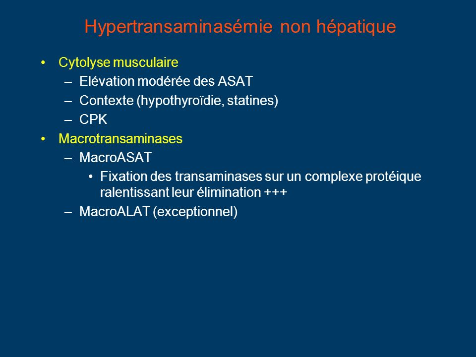 Hypertransaminasémie non hépatique