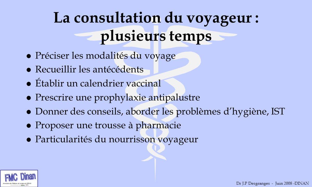 La consultation du voyageur : plusieurs temps