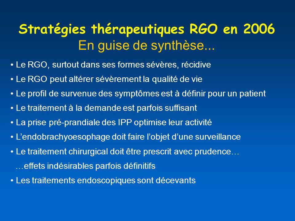 Stratégies thérapeutiques RGO en 2006