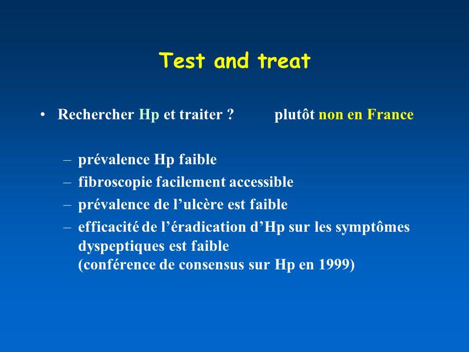 Test and treat Rechercher Hp et traiter plutôt non en France