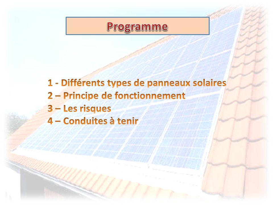 Programme 1 - Différents types de panneaux solaires