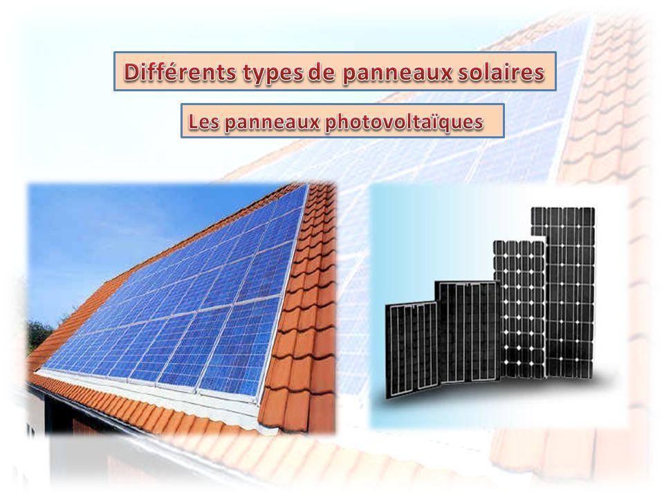 Différents types de panneaux solaires