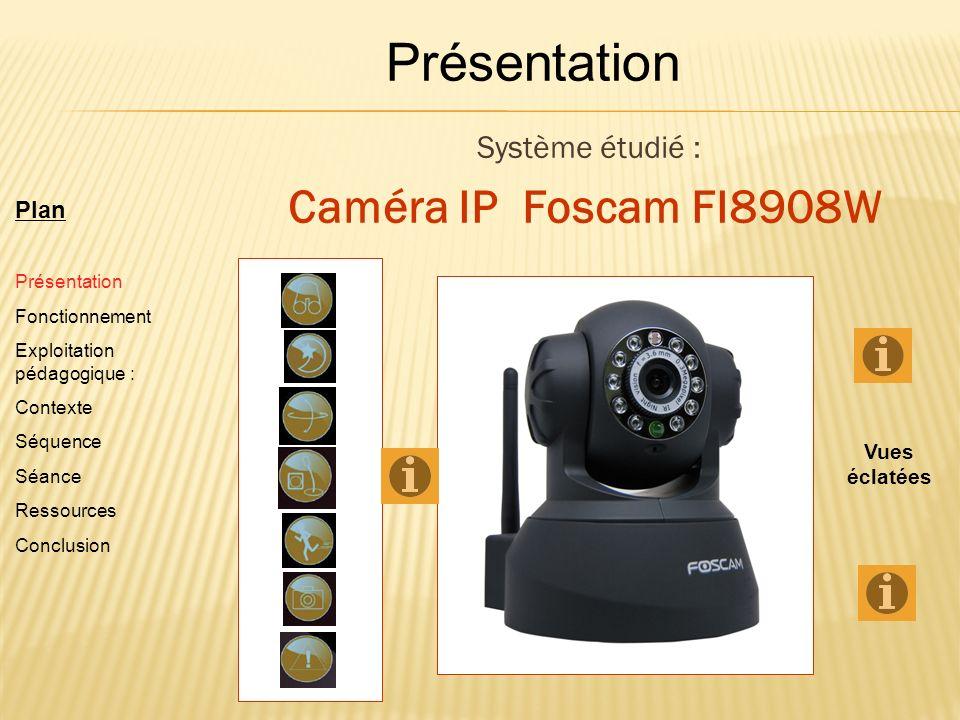 Présentation Caméra IP Foscam FI8908W Système étudié : Plan