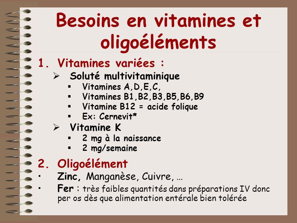 Besoins en vitamines et oligoéléments