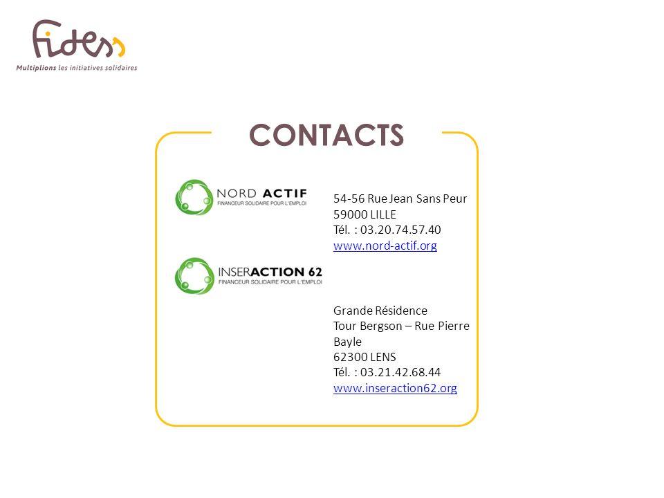 CONTACTS 54-56 Rue Jean Sans Peur 59000 LILLE Tél. : 03.20.74.57.40 www.nord-actif.org.