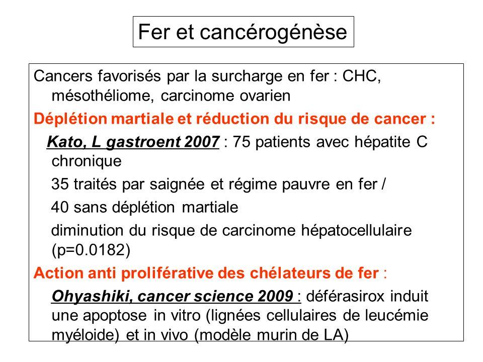 Fer et cancérogénèse