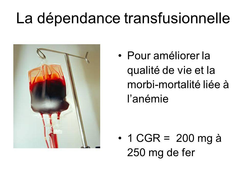 La dépendance transfusionnelle