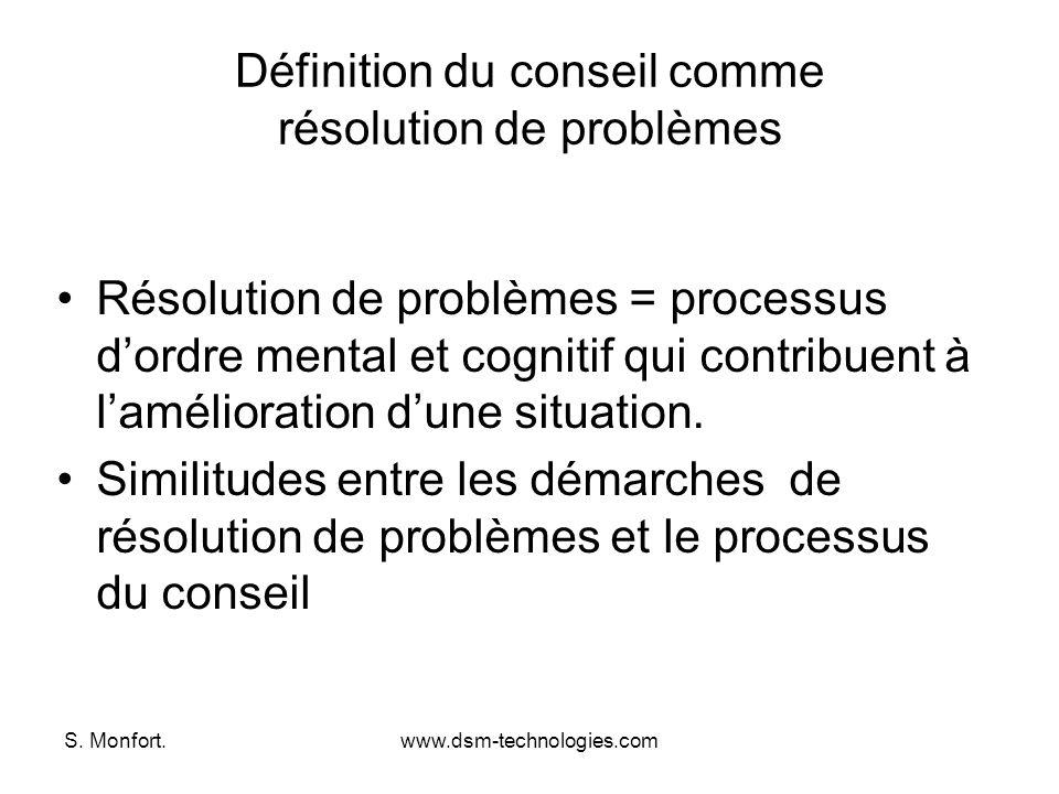 Définition du conseil comme résolution de problèmes