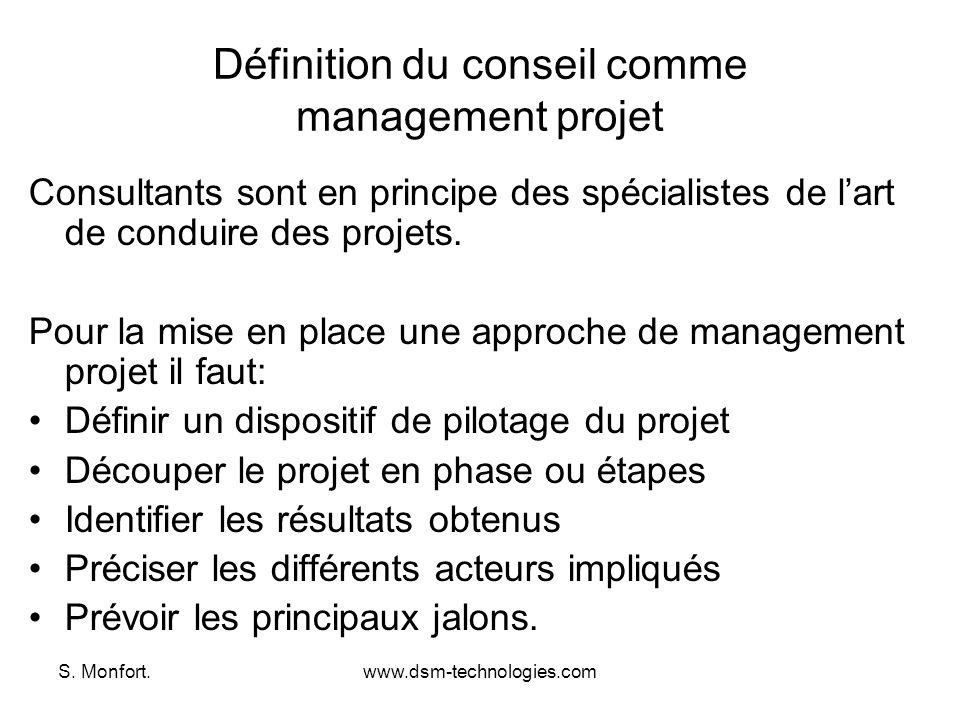 Définition du conseil comme management projet