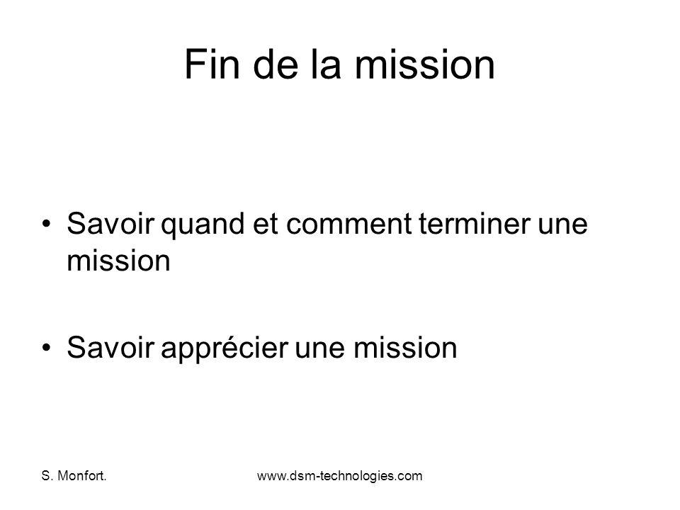 Fin de la mission Savoir quand et comment terminer une mission