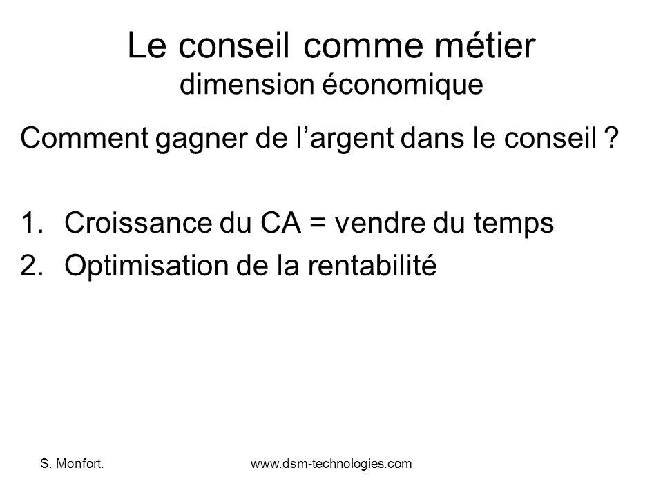 Le conseil comme métier dimension économique