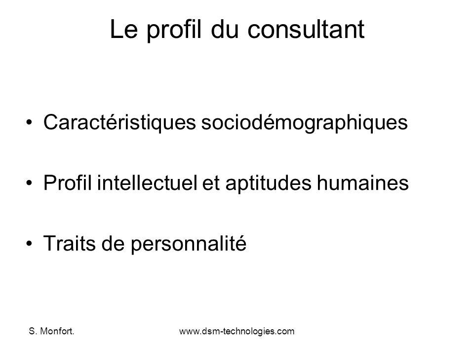 Le profil du consultant