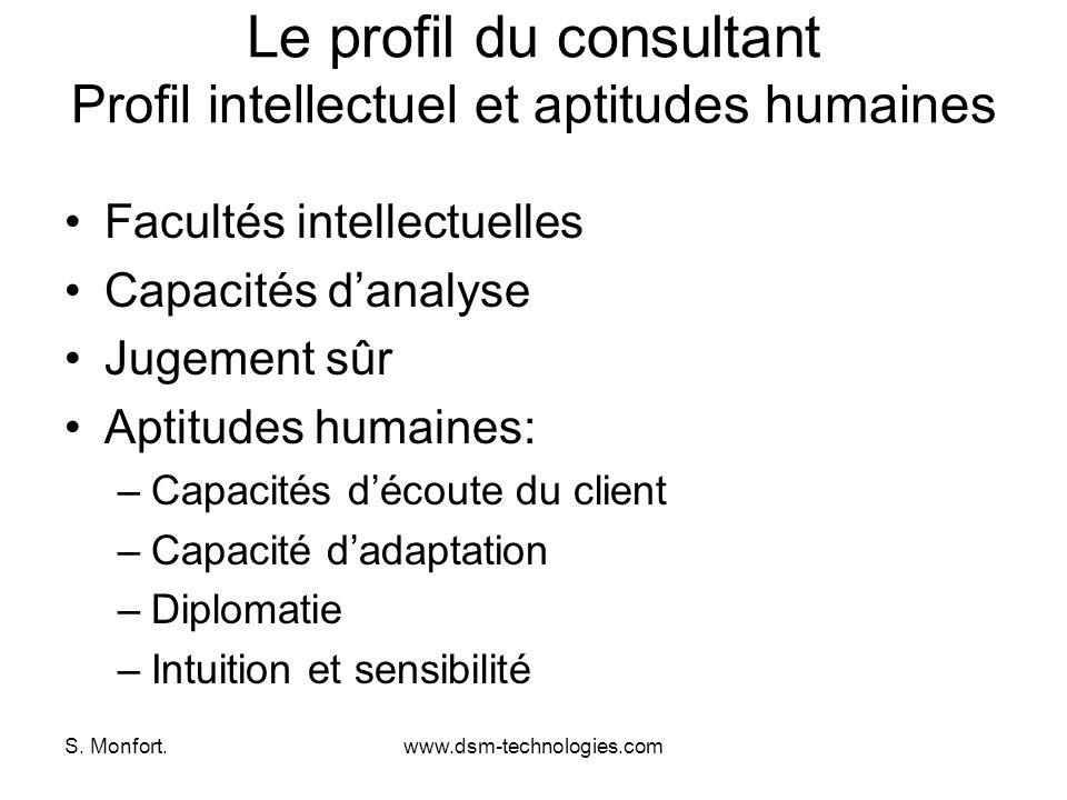Le profil du consultant Profil intellectuel et aptitudes humaines