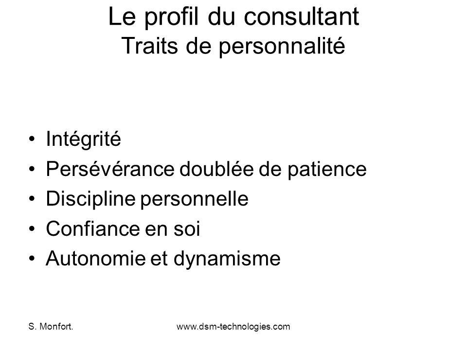 Le profil du consultant Traits de personnalité