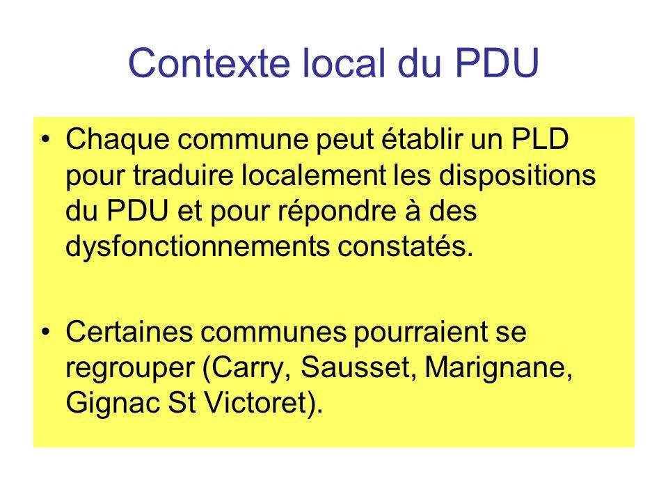 Contexte local du PDU