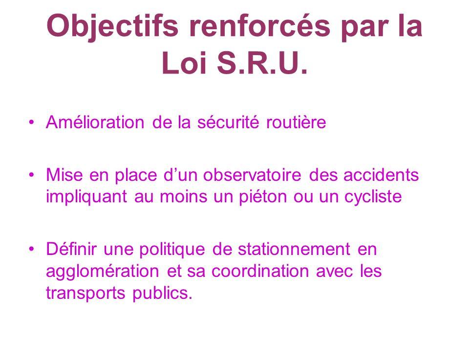 Objectifs renforcés par la Loi S.R.U.