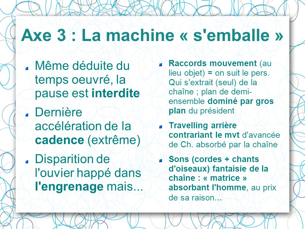 Axe 3 : La machine « s emballe »