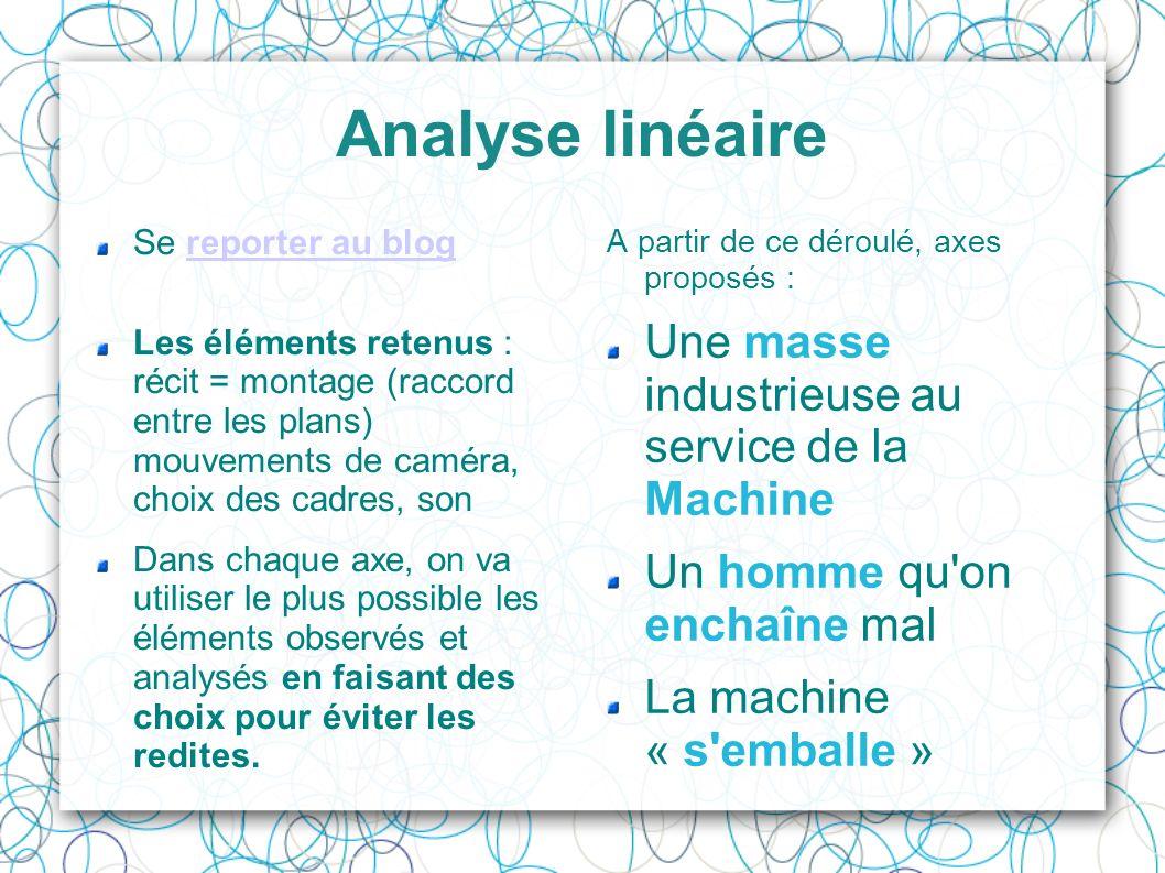 Analyse linéaire Une masse industrieuse au service de la Machine