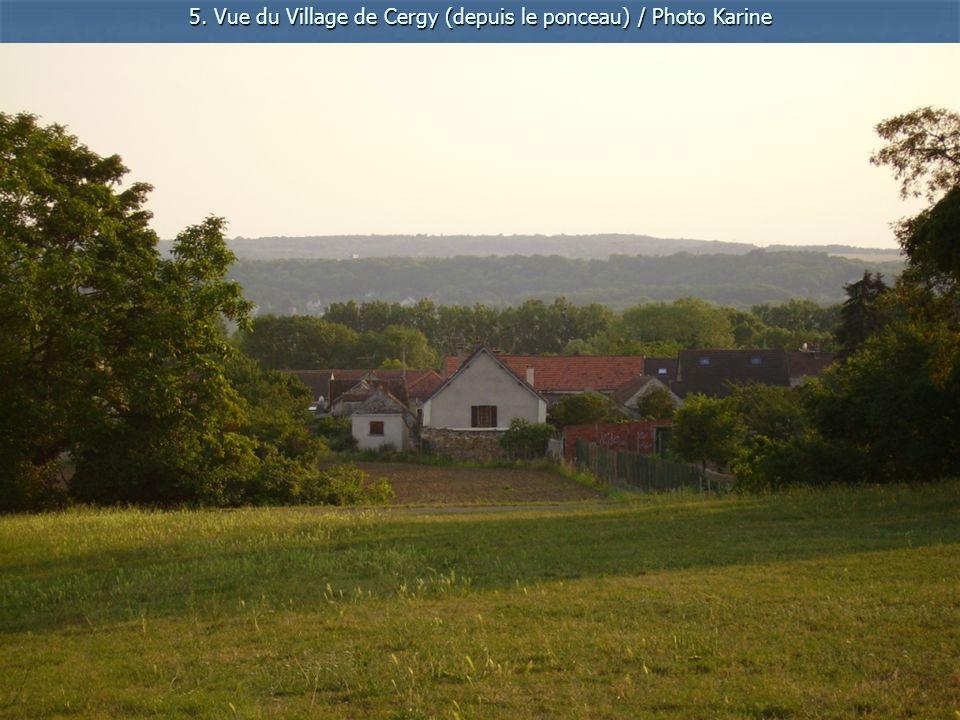 5. Vue du Village de Cergy (depuis le ponceau) / Photo Karine