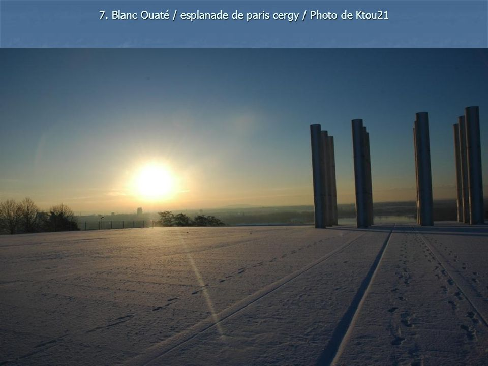 7. Blanc Ouaté / esplanade de paris cergy / Photo de Ktou21