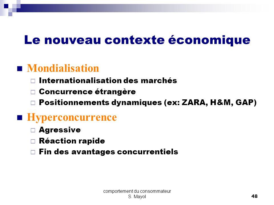 Le nouveau contexte économique
