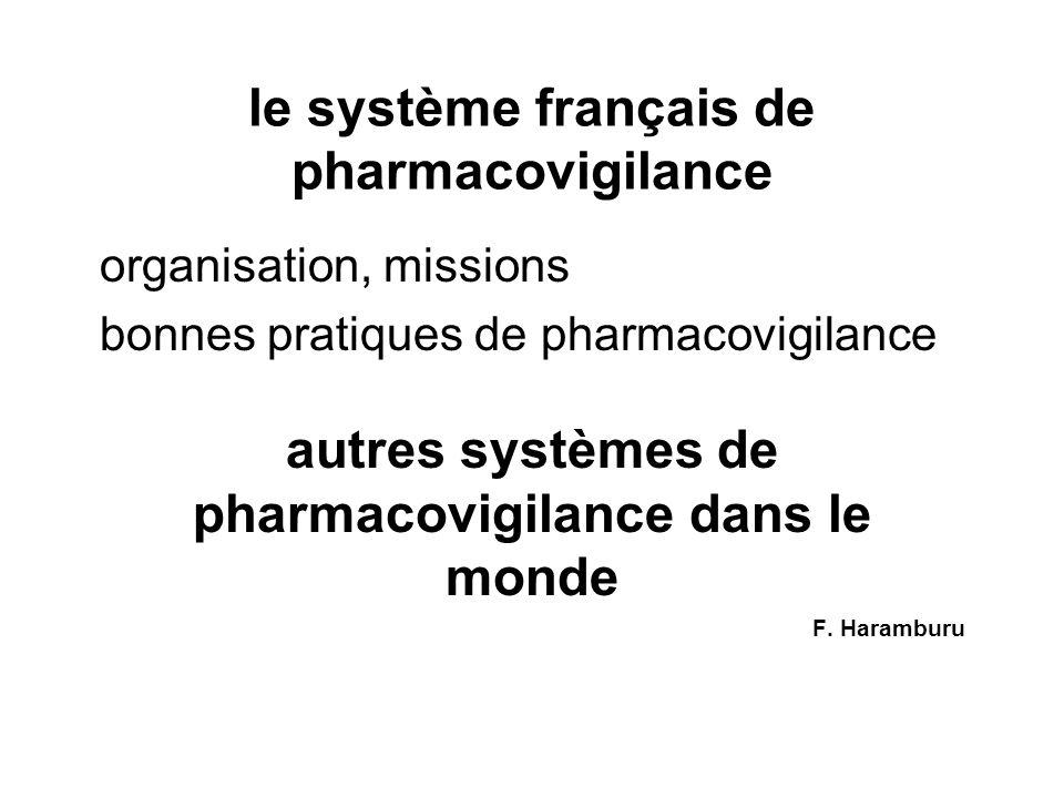 le système français de pharmacovigilance