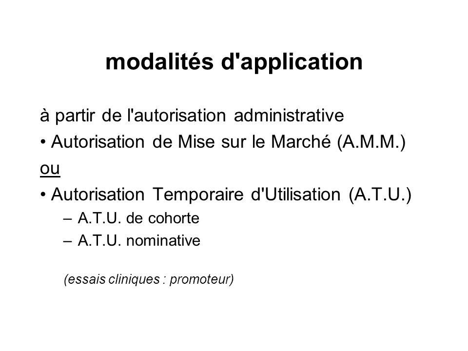 modalités d application