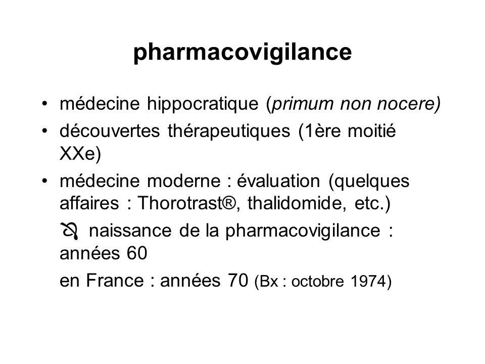 pharmacovigilance médecine hippocratique (primum non nocere)