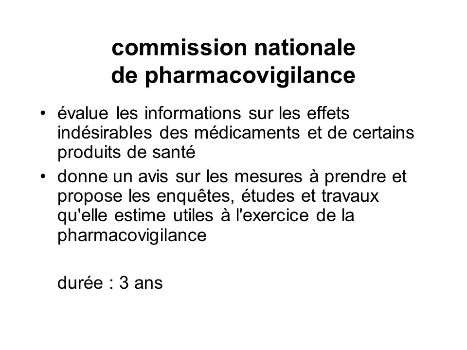 commission nationale de pharmacovigilance
