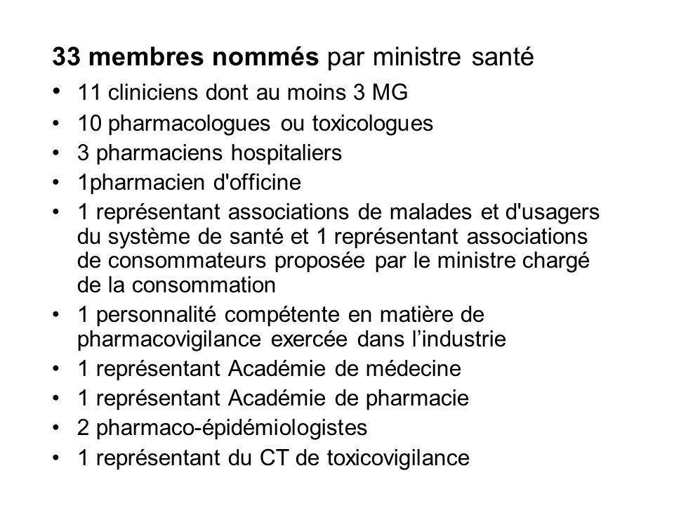 33 membres nommés par ministre santé