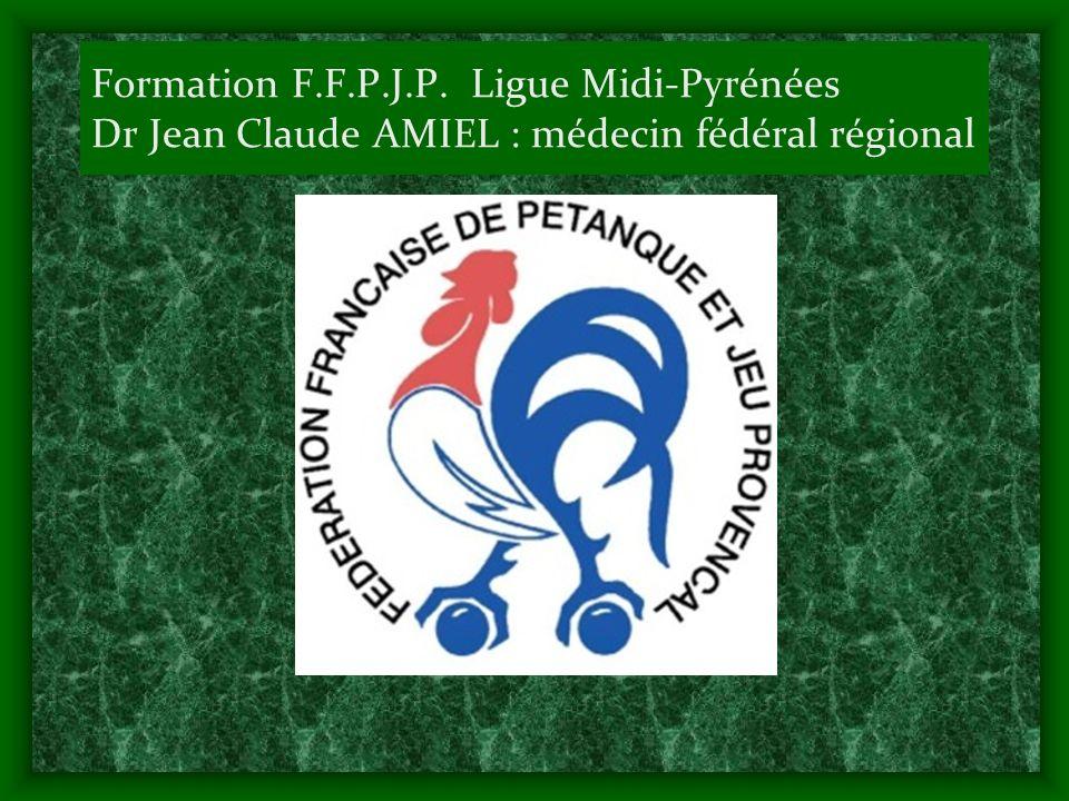 Formation F.F.P.J.P. Ligue Midi-Pyrénées Dr Jean Claude AMIEL : médecin fédéral régional
